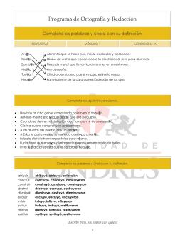 Programa de Ortografía y Redacción