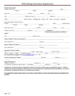 Wells Allergy Associates: Registration