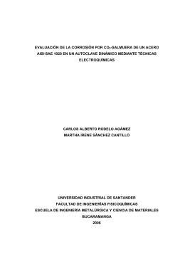 evaluación de la corrosión por co2-salmuera de un acero aisi