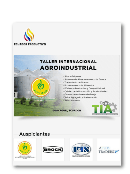 tabla de contenidos - Ecuador Productivo