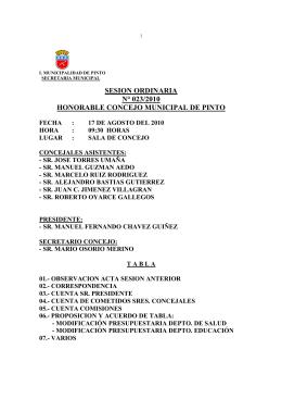 ACTA 023 - Municipalidad de Pinto