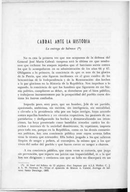 Cabral Ante la Historia