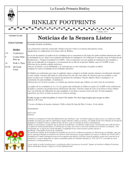 BINKLEY FOOTPRINTS