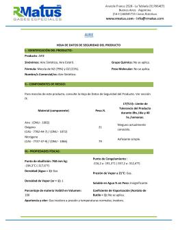 HOJA DE DATOS DE SEGURIDAD DEL PRODUCTO I