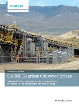 SIMINE Gearless Conveyor Drives