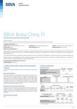 BBVA Bolsa China, FI
