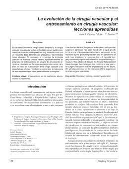 La evolución de la cirugía vascular y el entrenamiento en cirugía