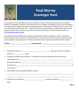Pauli Murray Scavenger Hunt - The George Watts Montessori
