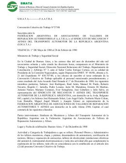 Convenio F.A.A.T.R.A 27/88