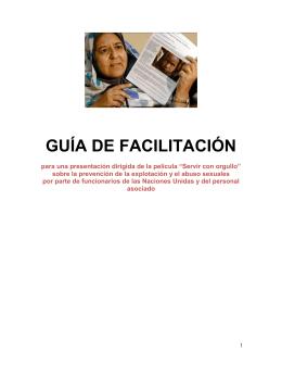 GUÍA DE FACILITACIÓNPNUD, November 2012.