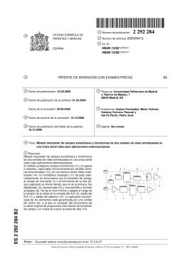 ES 2 292 284 B2 - DISAM - Universidad Politécnica de Madrid