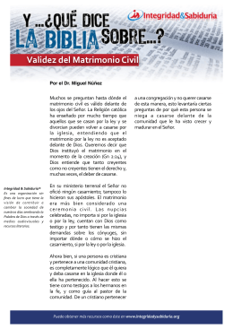 yqdlb validez del matrimonio civil - Ministerios Integridad & Sabiduría