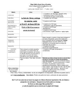 Utiles Colegio