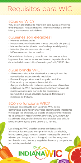 Requisitos para WIC