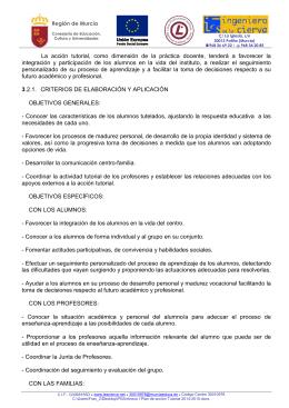 Anexo I Plan de acción Tutorial 2014-2015