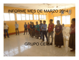 Informe Juventud Marzo 2014