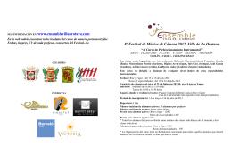 Formulario de inscripción - Ensemble Villa de La Orotava