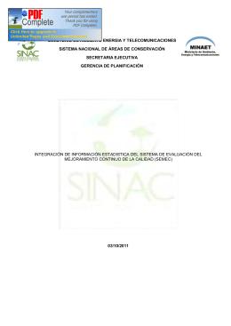 ministerio de ambiente energia y telecomunicaciones sistema