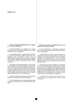 2 `98 Proposta que integra Sig-Multimédia para ser aplicado ao