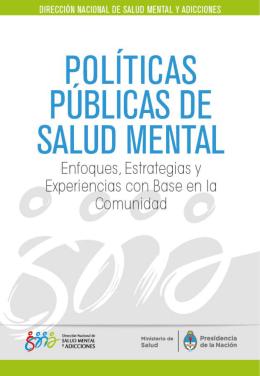 políticas públicas en salud mental: enfoques, estrategias y
