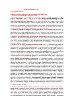 Noticias del GREF. Envío del 26 de agosto de 2012. Archivo PDF