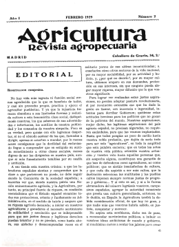 Agricultura revista agropecuaria, ISSN: 0002-1334