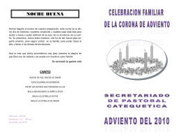 Folleto de la Corona de Adviento