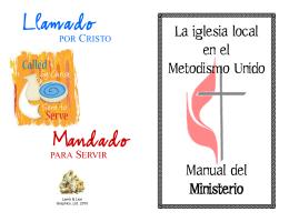La iglesia local en el Metodismo Unido Manual del Ministerio