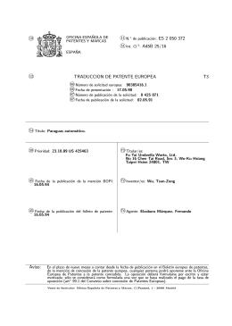 PARAGUAS AUTOMATICO.(ES2050372)