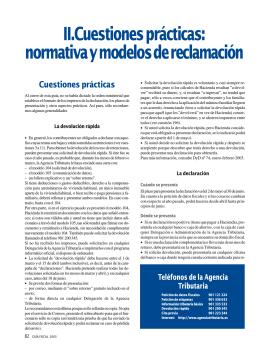 II.Cuestiones prácticas: normativa y modelos de reclamación