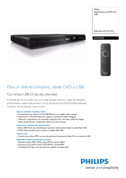 DVP3350/12 Philips Reproductor de DVD con USB