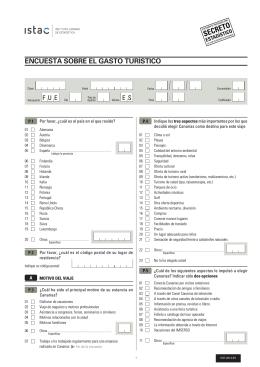Cuestionario en Fuerteventura - 2012