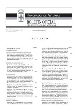 S U M A R I O - Gobierno del principado de Asturias