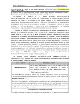 Declaratoria de vigencia de las normas mexicanas NMX-AA