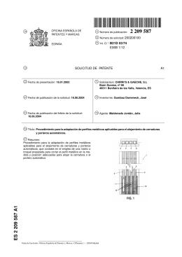 procedimiento para la adaptacion de perfiles metalicos aplicables