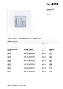 Señalización de orientación OSP 0001 Página 1