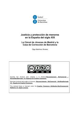 Justicia y protección de menores en la España del siglo XIX
