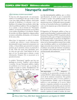 Neuropatía auditiva - Clínica John Tracy