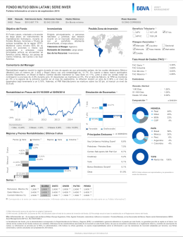 Folleto Informativo - BBVA Asset Management