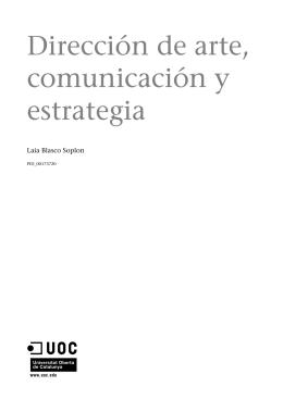 Dirección de arte, comunicación y estrategia