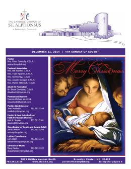 december 21, 2014 - St. Alphonsus Church – Brooklyn Center, MN