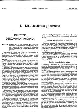 1. Disposiciones generales MINISTERIO DE ECONOMIA Y