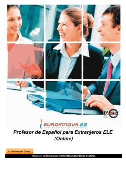 Profesor de Español para Extranjeros ELE (Online)