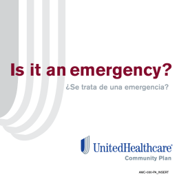 Is it an emergency? - UHCCommunityPlan.com