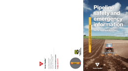 Pipeline safety and emergency information