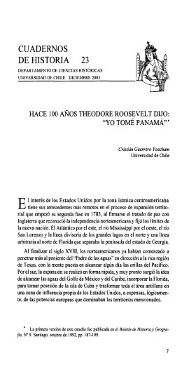 CUADERNOS DE HISTORIA 23 - Repositorio Académico