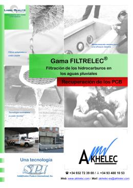 Gama FILTRELEC
