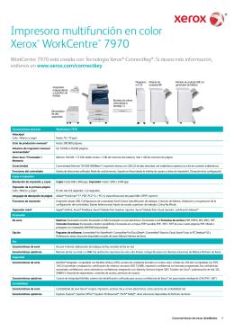 Características Xerox WorkCentre 7970: Impresora Multifunción