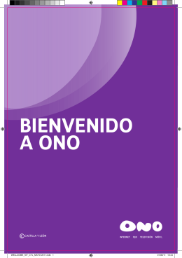 BIENVENIDO A ONO