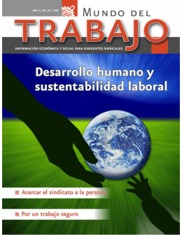 Desarrollo humano y sustentabilidad laboral